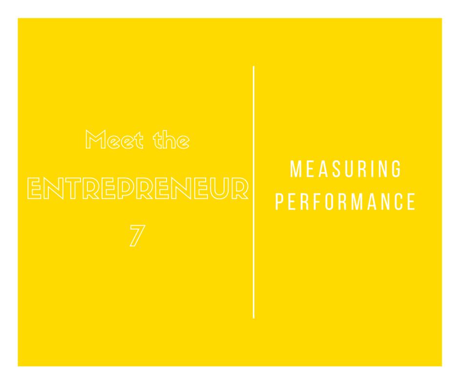 Entrepreneurship and measuring performance